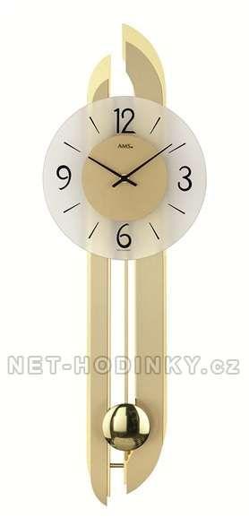 Kyvadlové hodiny pendlovky AMS 7331 zlatá 154152 Hodiny