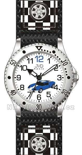 JVD Náramkové chlapecké hodinky J7126.1 modrá, J7126.2 šedá, J7126.3 červená 154023 J7126.2 šedé auto