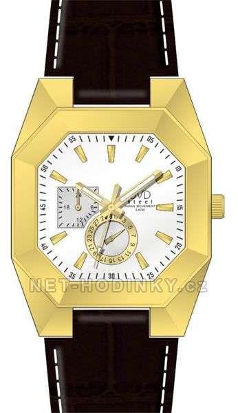 Náramkové dámské i pánské hodinky J1052.2.2 kožený pásek 154028 JVD Hodiny