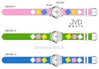 Náramkové dětské hodinky JVD basic W61. 1.1, W61.2.2, W61.3.3 154275 Hodiny