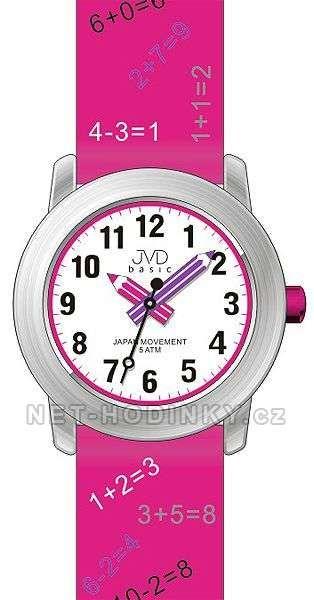JVD Náramkové dětské hodinky s koženým páskem J7120.1 růžová, J7120.2 modrá, J7120.3 bílá 154019 J7120.1 růžová