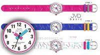 Náramkové dětské hodinky s koženým páskem J7120.1 růžová, J7120.2 modrá, J7120.3 bílá 154019 JVD Hodiny