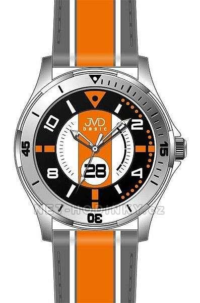 Náramkové hodinky dětské JVD basic W60.1.1, W60.2.2, W60.3.3 154274 W60.3.3 oranžová