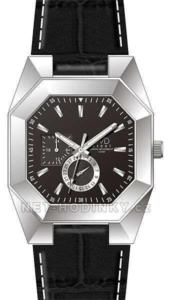 JVD Náramkové hodinky pánské, dámské J1052.1.1 kožený pásek 154027