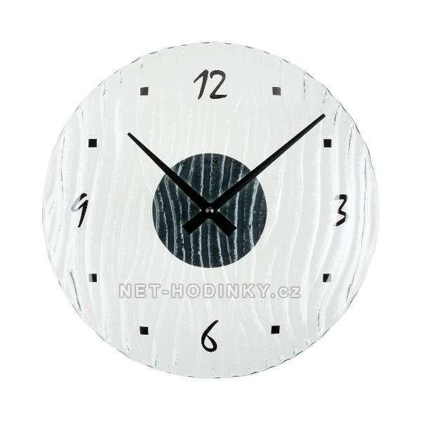 Nástěnné hodiny kulaté ST1171.6 skleněné SKLADEM 154203 Hodiny