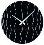 Nástěnné hodiny skleněné 1188.3 kulaté černé 154205