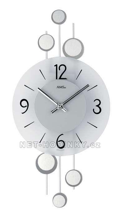 Nástěnné hodiny skleněné AMS 9388 154154 Hodiny