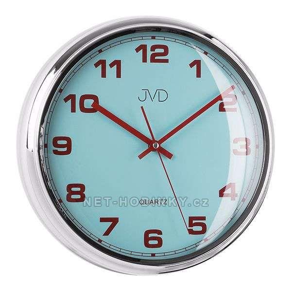 JVD Nástěnné plastové hodiny sweep HA4.1 modrá, HA4.2 bílá, HA4.3 červená 154035 HA4.3