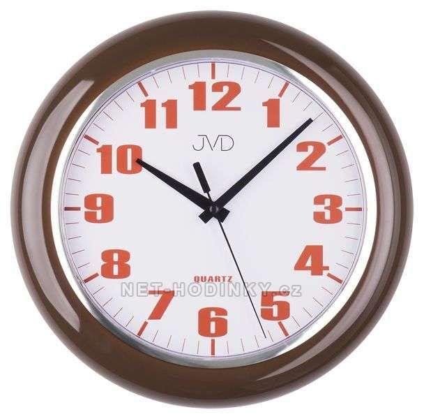 JVD Nástěnné plastové hodiny sweep HA5.1 hnědá, HA5.2 bílá, HA5.3 zelená 154036 HA5.1
