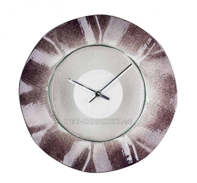 Nástěnné skleněné hodiny Chaos 1195.2 kulaté 154217 Hodiny