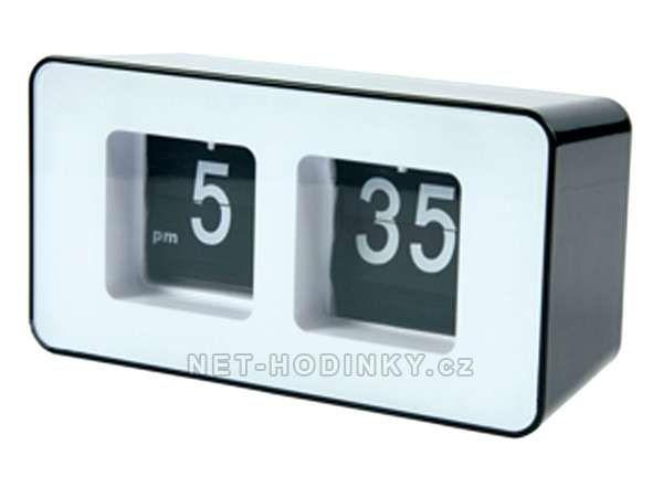 La Crosse Technology Retro hodiny basicXL s překlápěcími číslicemi černé 153857 Retro hodiny oranžové