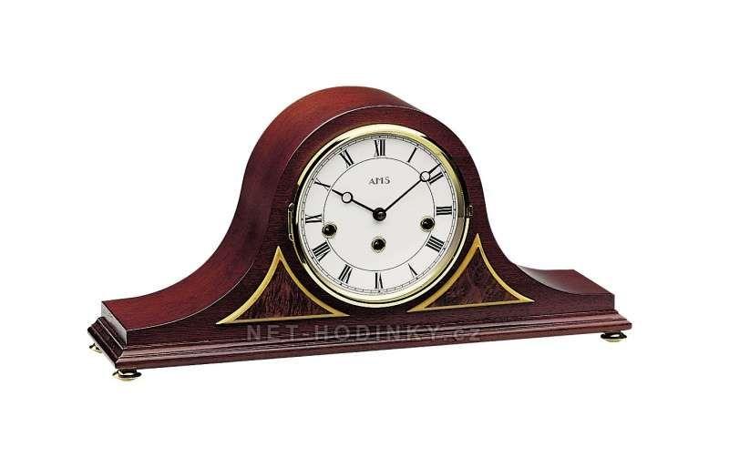 Stolní luxusní hodiny AMS 2190/8 mahagon, AMS 2190/1 ořech 154125 Hodiny