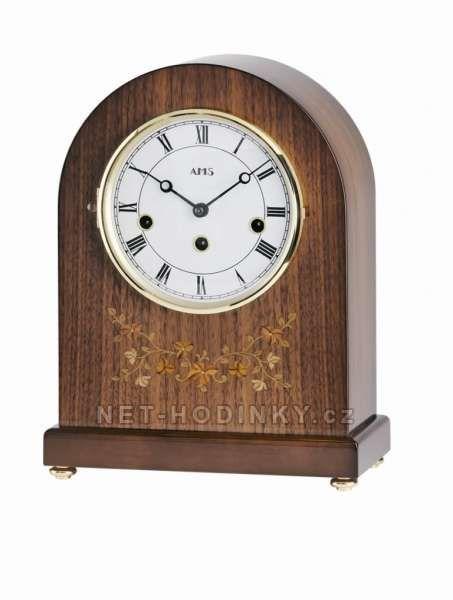 Stolní mechanické hodiny AMS 2154/1 hnědá 154127