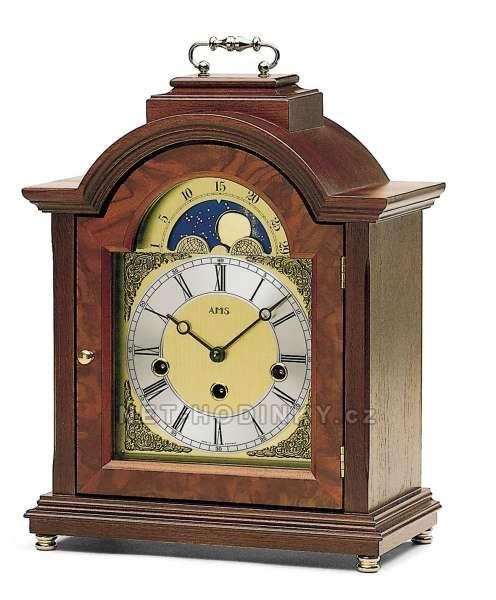 Stolní mechanické luxusní hodiny AMS 2195/1 ořech, AMS 2195/9 třešeň 154129