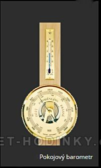 Barometr vnitřní nástěnný dřevěný 154712
