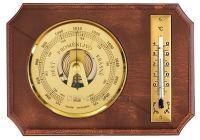 Barometr vnitřní nástěnný dřevěný s teploměrem 154711