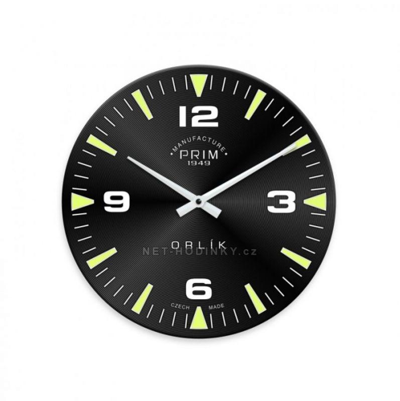 Designové nástěnné hodiny PRIM černé 154944