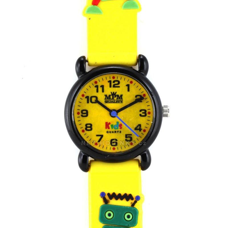 Dětské náramkové hodinky s barevným silikonovým řemínkem 154851 černá růžová