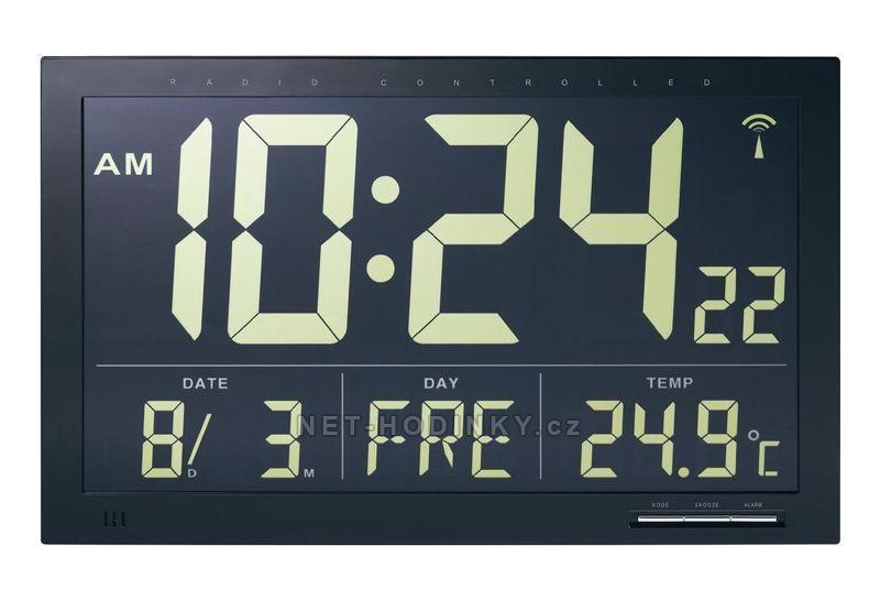 Digitální nástěnné hodiny průmyslové na stěnu s vnitřní teplotou 154867
