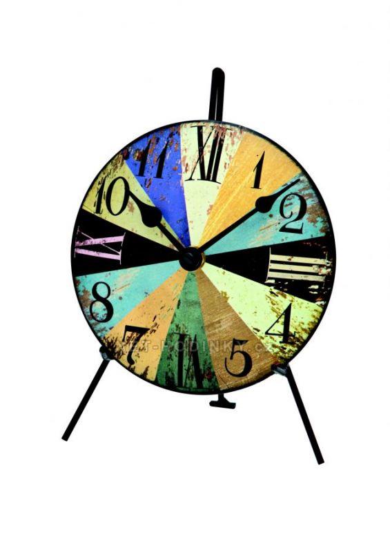 Kovové stolní hodiny AMS 1164 154840