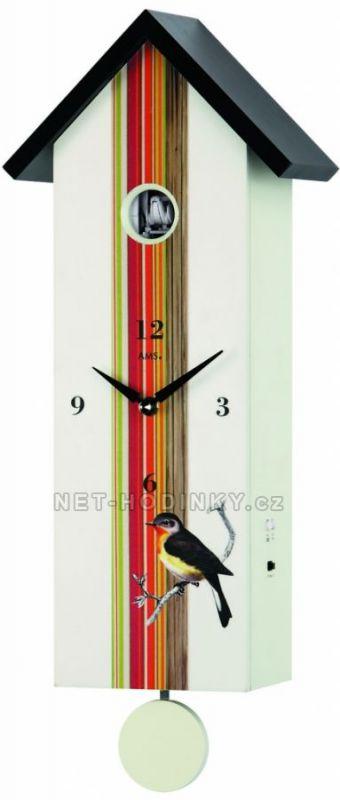 Kukačky nástěnné hodiny dřevěné s kukačkou AMS 7289 154523