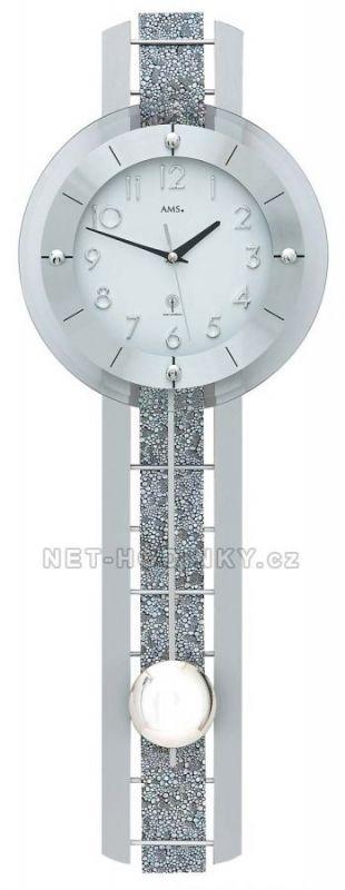 Kyvadlové hodiny AMS 5284 řízené rádiovým signálem 154807 Hodiny