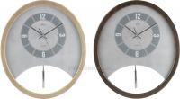 Kyvadlové hodiny Quartz dřevěné E01.2516.8 tm. hnědá 154982