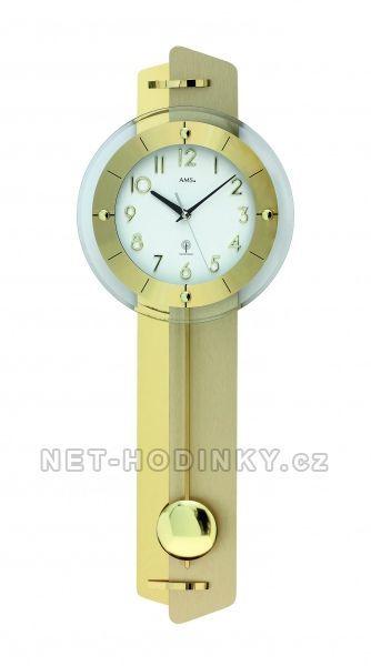 Kyvadlové hodiny quartzové, rádiem řízený čas AMS 5267, AMS 5271, AMS 5272 154499 Hodiny