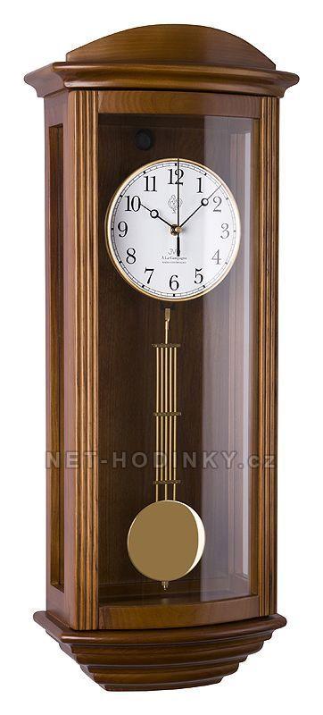 JVD Kyvadlové hodiny quartzové, rádiem řízený čas NR2220/11 ořech, NR2220/23 tmavý dub 1544