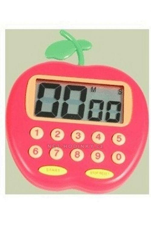 Minutník digitální s magnetem motiv červené jablko 155003