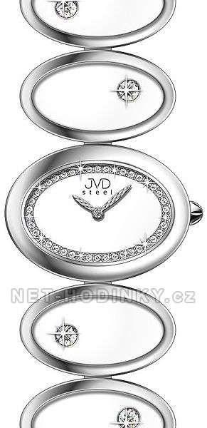 Náramkové hodinky dámské JVD steel W21.1.7, W21.2.4 154299 W21.1.7 bílá