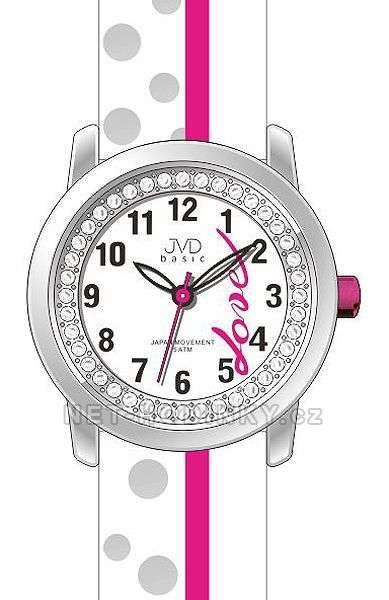 Náramkové hodinky dívčí JVD basic J7137.1.1, J7137.2.2, J7137.3.3 154305 J7137.2.2 růžová