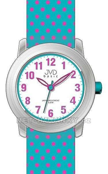 Náramkové hodinky dívčí JVD basic J7140.1.1, J7140.2.2, J7140.3.3 154308 J7140.1.1 růžová