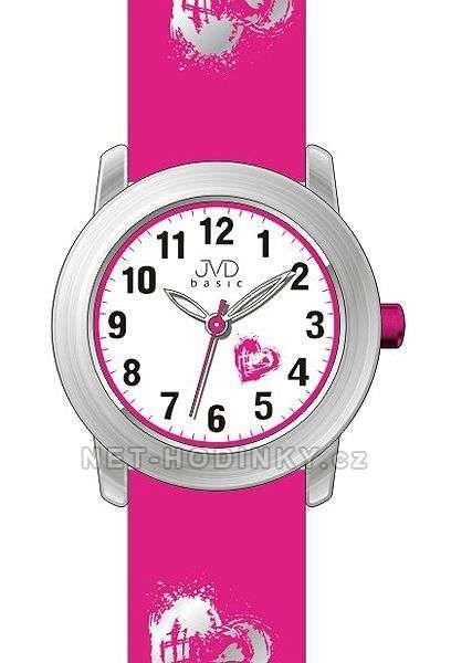 Náramkové hodinky dívčí JVD basic J7141.1.1, J7141.2.2, J7141.3.3 154309 J7141.1.1 růžová
