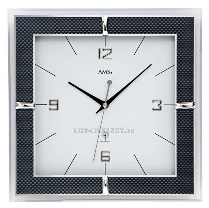 Nástěnné hodiny AMS 5855 rádiem řízené 154817
