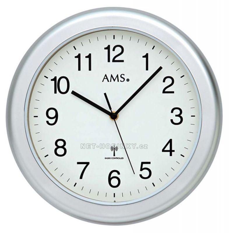 Nástěnné hodiny AMS 5956, AMS 5957, AMS 5958 rádiem řízené 154819 AMS 5956