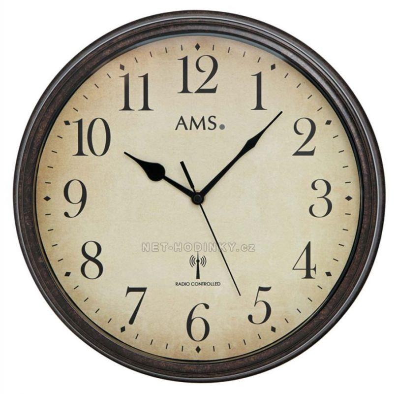 Nástěnné hodiny AMS 5962 rádiem řízené 154826