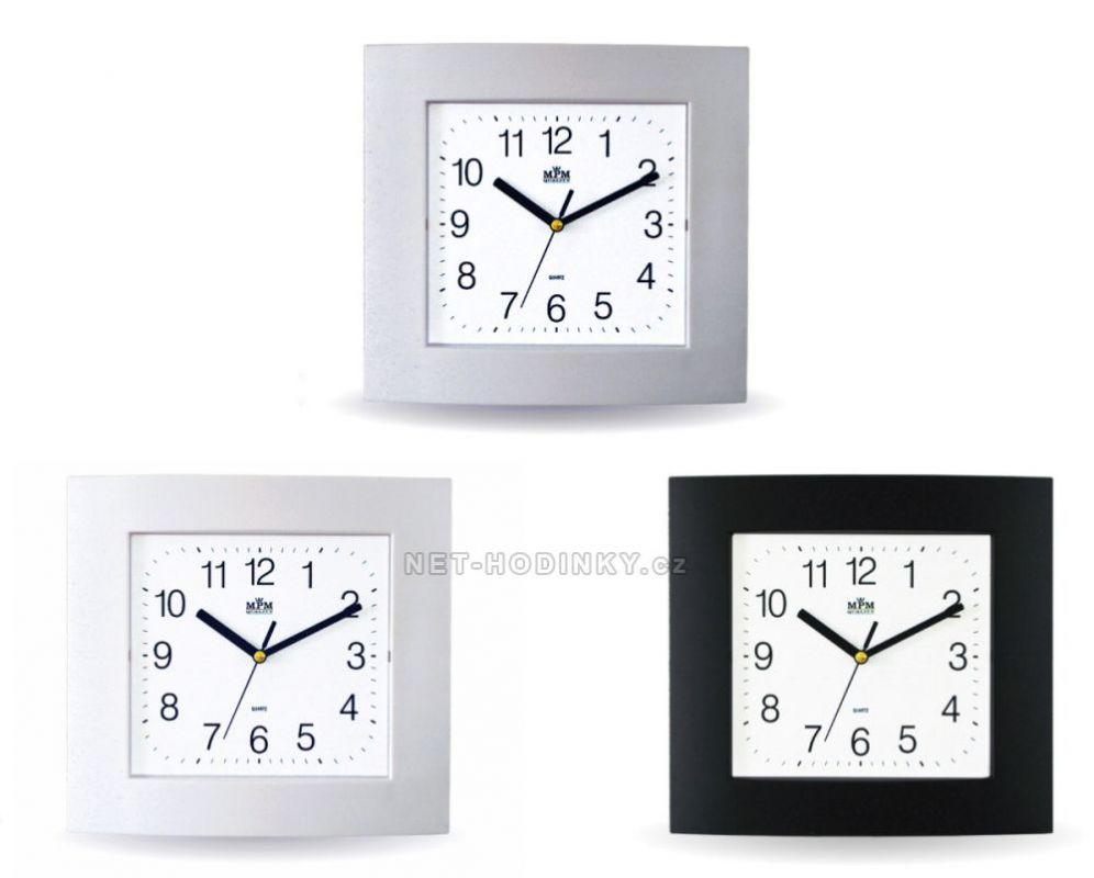 Nástěnné hodiny hranaté s tichým chodem E01.2461 (998-S) 154848