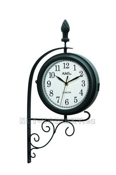Nástěnné hodiny kovové AMS 9433 SKLADEM 154519