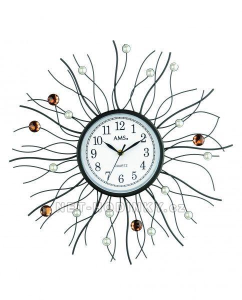 Nástěnné hodiny kovové AMS 9445 154517