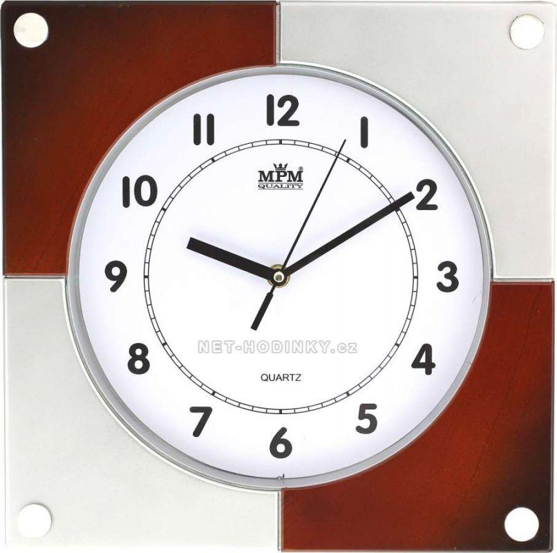 Nástěnné hodiny plastové hranaté E01.2805 .2 154341