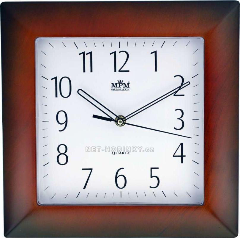 Nástěnné hodiny plastové hranaté E01.2808.8 154342