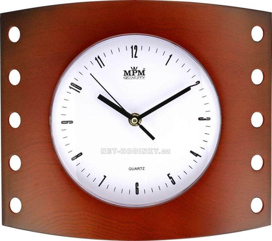Nástěnné hodiny plastové hranaté E01.2814.7 154343 Hodiny