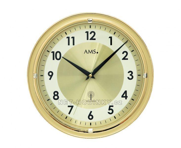Nástěnné hodiny skleněné AMS 5945, AMS 5946 rádiem řízené 154508 5945 bílá