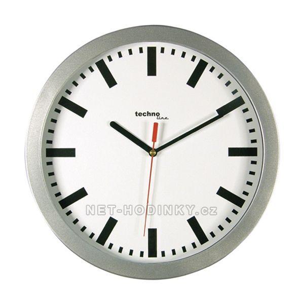 Nástěnné hodiny techno Line stříbrná 154884