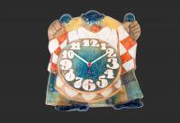 Nástěnné keramické hodiny ŠAŠEK ruční práce 154965
