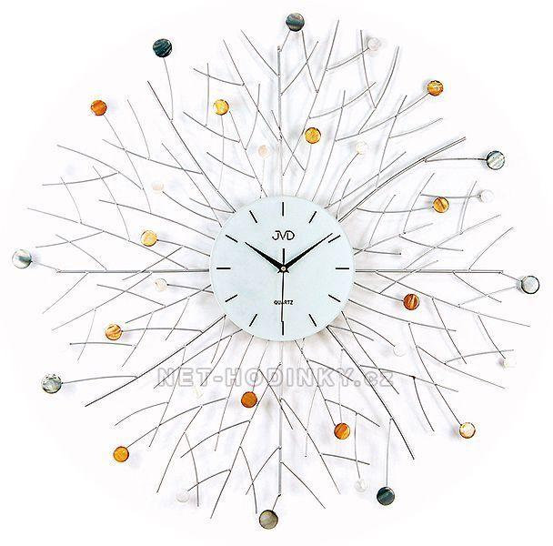 Nástenné kovové hodiny design JVD HJ65.4 154479