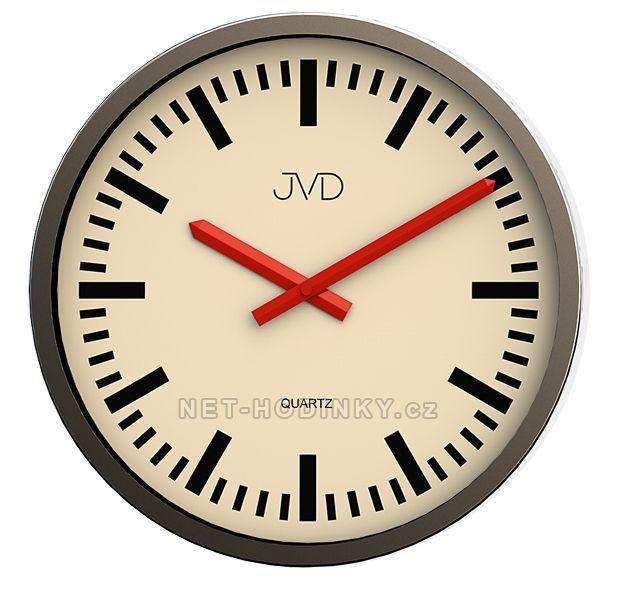 Nástěnné kovové hodiny JVD quartz H306.3.3, H306.2.2, H306.1.1 154654 H306.1.1