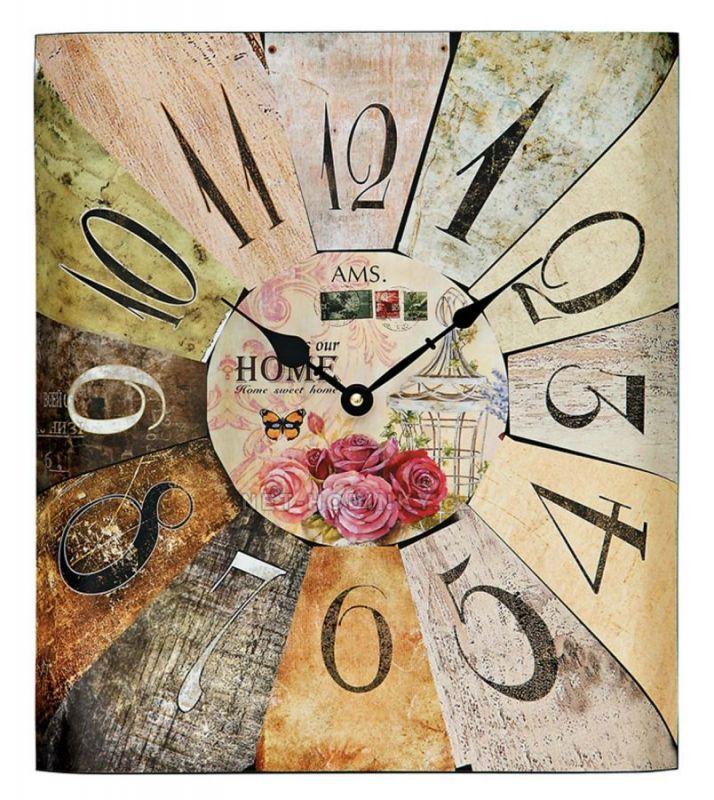Retro nástěnné hodiny AMS 9460 154827
