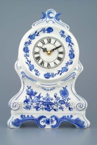 Porcelán Dubí Stolní hodiny porcelánové cibulový dekor 154586